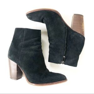 Sam Edelman Blake Suede Black Ankle Booties